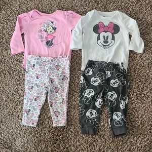 Disney Minnie Mouse Matching Outfits 6M